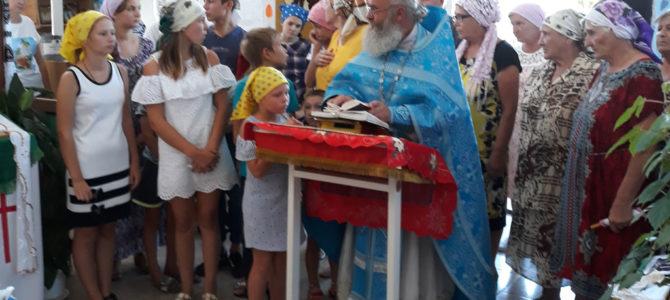 Молебен на начало учебного года в Чернозёмном