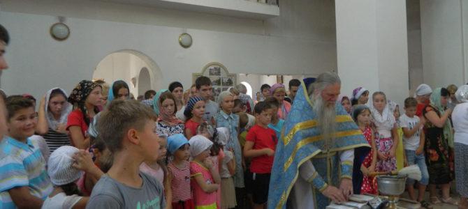 Благословение на учебу получили школьники с. Восход