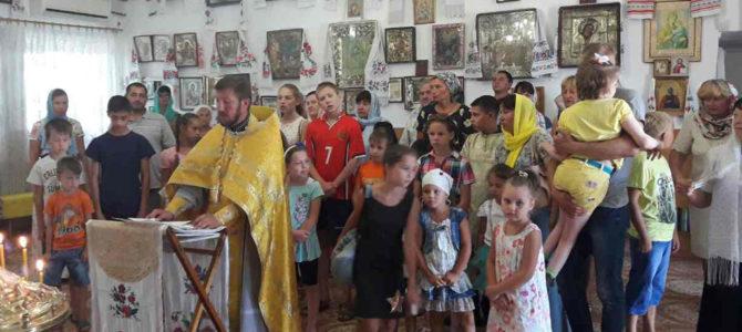 Молебен на начало учебы в храме ап. Фомы с. Воинка