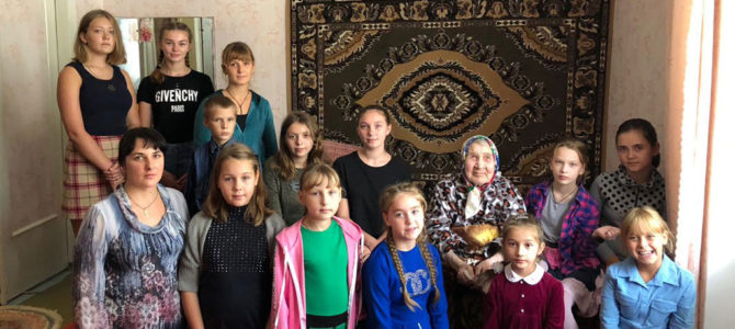 Воскресная школа с. Восход поздравила с 90-летним юбилеем прихожанку храма