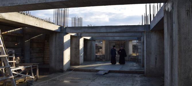 Визит Управляющего епархией на строительство храма в п. Советском