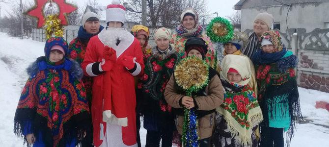 Детишки из Чернозёмного прославили Христа колядками