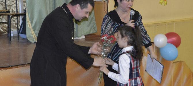 Руководитель военного отдела епархии посетил школьное мероприятие духовно-патриотической направленности