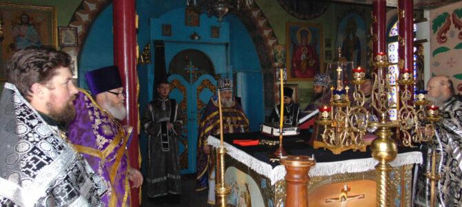 В Спасо-Преображенском мужском монастыре совершена первая в посту божественная литургия