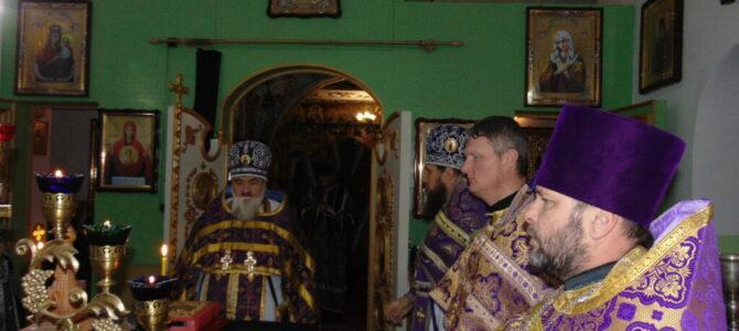 Литургия Преждеосвященных Даров совершена в храме прп. Серафима Саровского с. Ковыльного