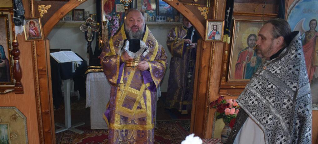 Архиерейская Божественная литургия в храме Вознесения Господня с. Рощино