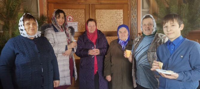 Масленичные угощения на Свято-Амвросиевском приходе с. Полтавка