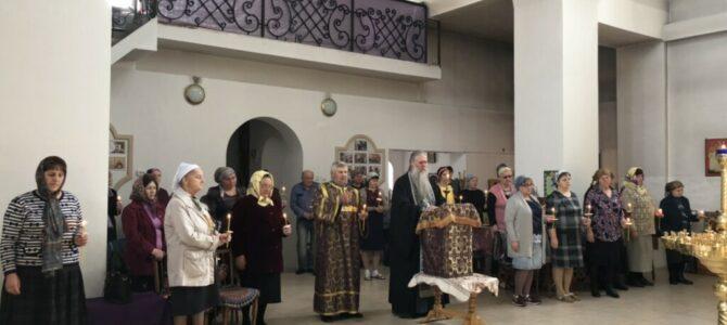 Чтение Великого покаянного канона прп. Андрея Критского в Свято-Андреевском храме