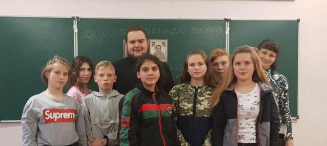 Экзамен для изучающих курс ОПК воспитанников школы-интерната провел священннослужитель епархии