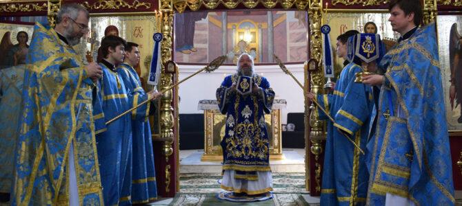 Божественная литургия в праздник Благовещения Пресвятой Богородицы