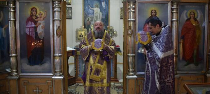 Божественная литургия в неделю 5-ю Великого поста, прп. Марии Египетской