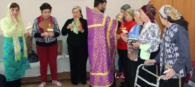 Таинство соборования совершено над пожилыми посетителями Раздольненского терцентра