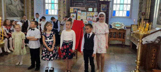 Пасхальное детское выступление в Свято-Покровском храме с. Войково