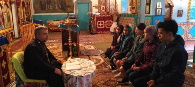 Возобновила работу воскресная школа Свято-Богоявленского прихода с. Калинино