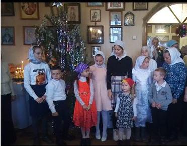 Праздник Рождества Христова в храме новомучч. Крымских с. Клепинино