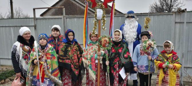 Христославы в Чернозёмном поздравили односельчан с Рождеством
