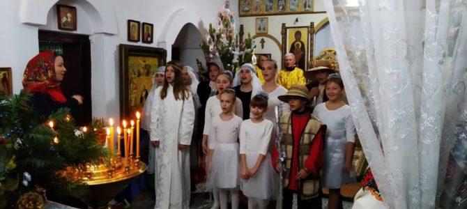 Поздравление с Рождеством Христовым в Михайловке Нижнегорского благочиния