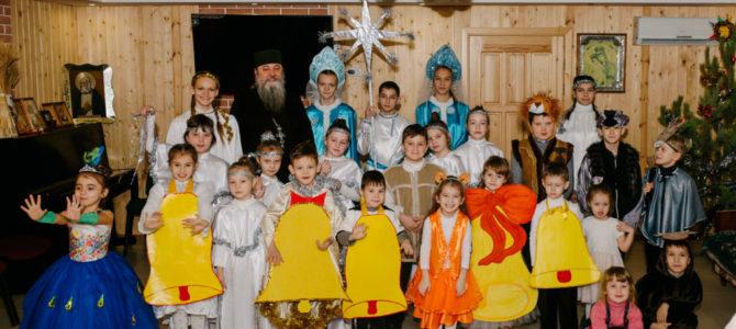 Детский рождественский праздник в п. Октябрьском