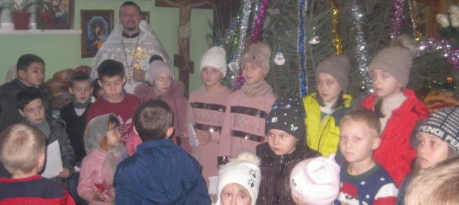 Детское поздравление в храме прп. Сергия Радонежского с. Заветного