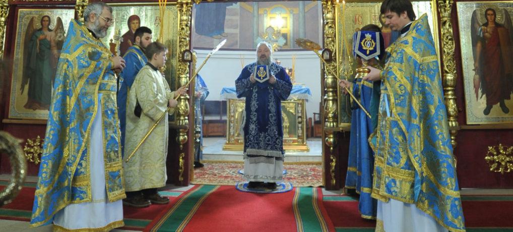 Божественная литургия в праздник Сретения Господня