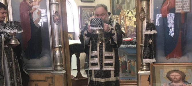 Божественная литургия Преждеосвященных Даров в пятницу четвертой седмицы Великого поста