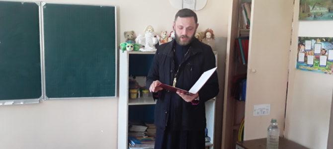 Священник посетил родительское собрание в Зоркинской школе