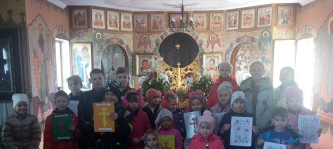Урок о Крестопоклонной неделе в воскресной школе Свято-Рождественского храма