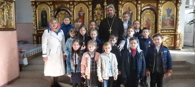 Беседа со школьниками в Свято-Вознесенском храме