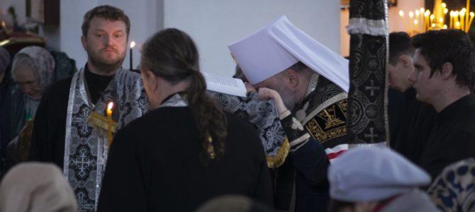 Правящий архиерей совершил чтение заключительной части Великого покаянного канона