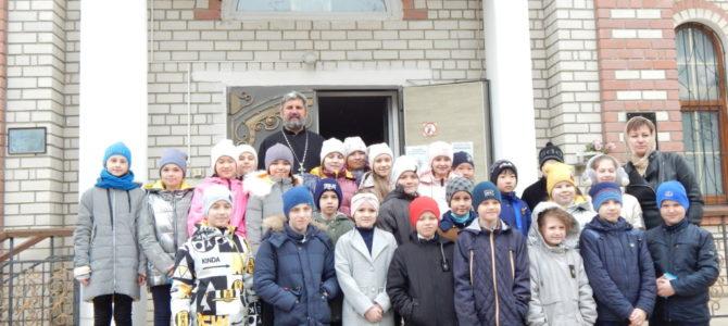 Школьники посетили Свято-Вознесенский храмг.Красноперекопска