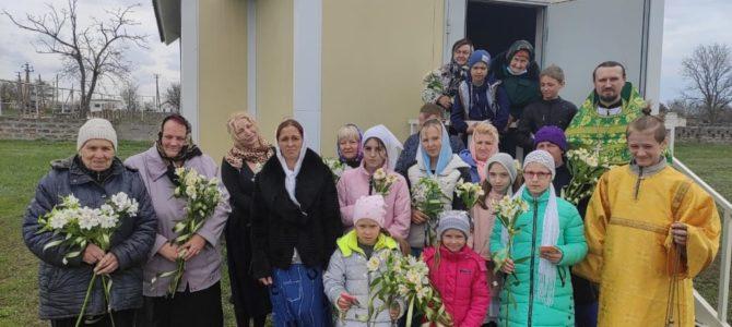 Первый престольный праздник храма прп. Марии Египетской с. Соколы Раздольненского благочиния