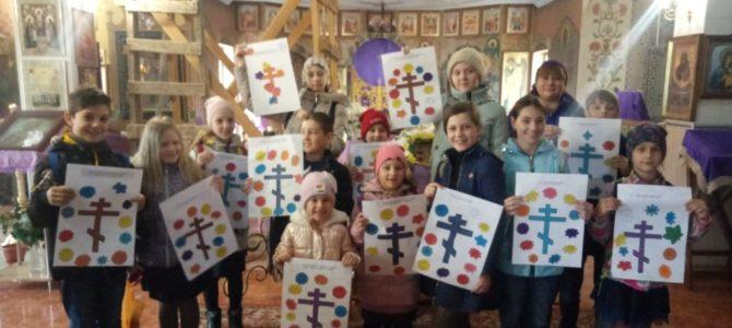 Урок в неделю Крестопоклонную в воскресной школе Свято-Рождественского храма
