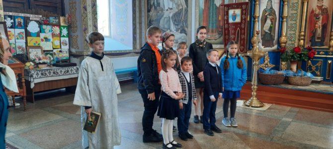 Детское поздравление с праздником Пасхи в Свято-Покровском храме с. Войково